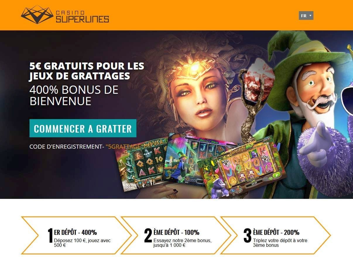 Superlines Casino Bonus