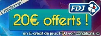 Bonus de 20 € de jeux gratuits
