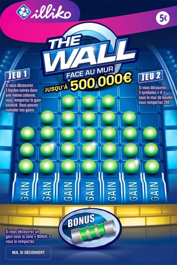 Le ticket de grattage FDJ The Wall