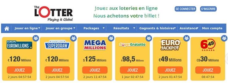 Découvrir The Lotter service achat billets de loterie