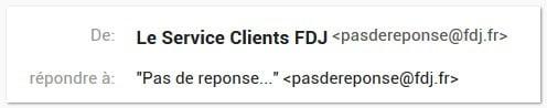 adresse du service clients FDJ