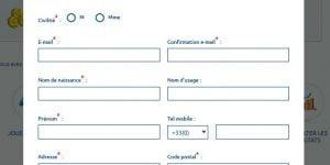 formulaire de contact de la FDJ