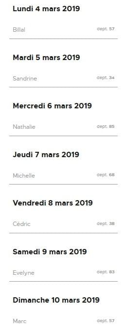 Gagnants Lucky Days Française des Jeux