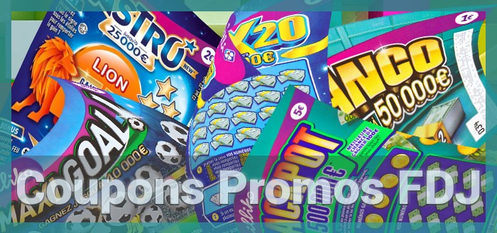 Les coupons promotionnels de la FDJ illiko jeux de grattage