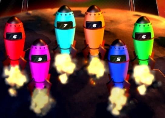 Décollage des fusées sur le jeu Mise à Feu