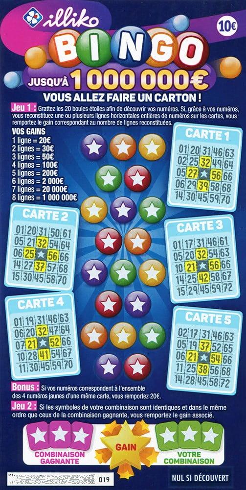 Nouveau ticket à gratter Bingo FDJ