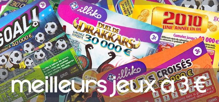 Classement des Jeux à 3 euros