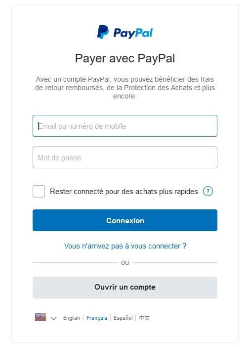 déposer de l'argent de PayPal à son compte joueur FDJ