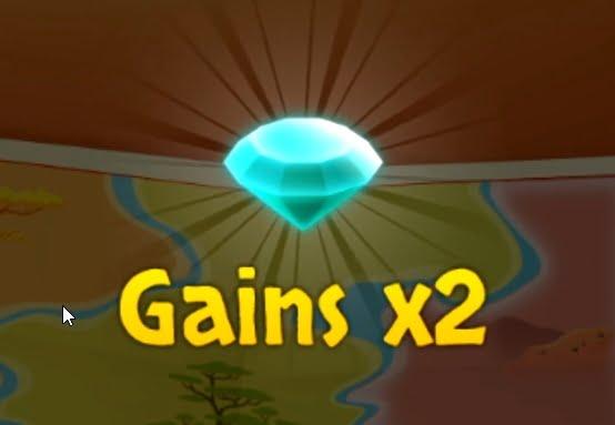 Découverte du diamant sur le jeu 1 2 3 Safari