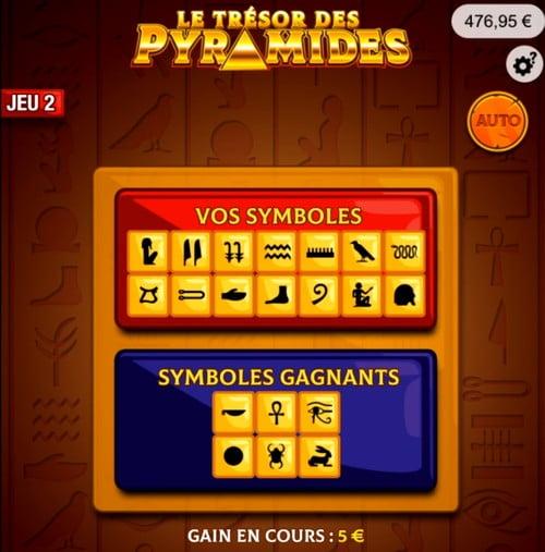 Le 2e jeu sur Le Trésor des Pyramides