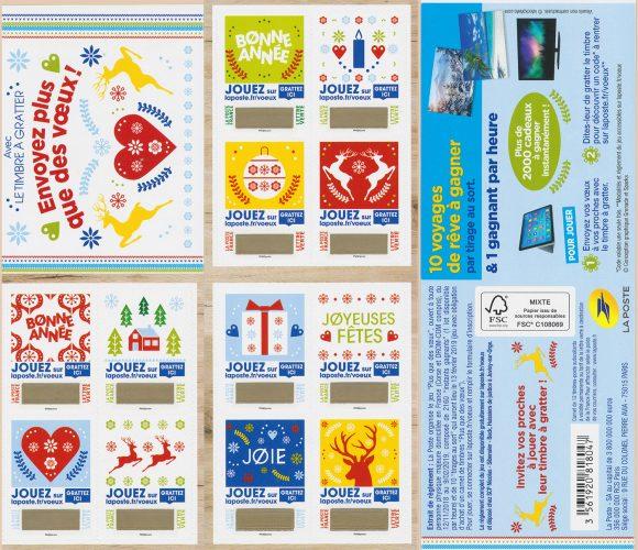 Les nouveaux timbres a gratter de la poste Plus que des Vœux