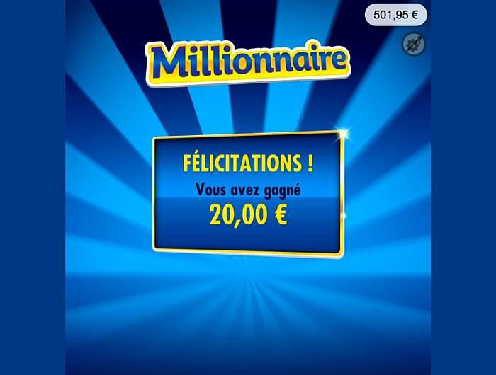 Récupérer le prix gagné au Millionnaire