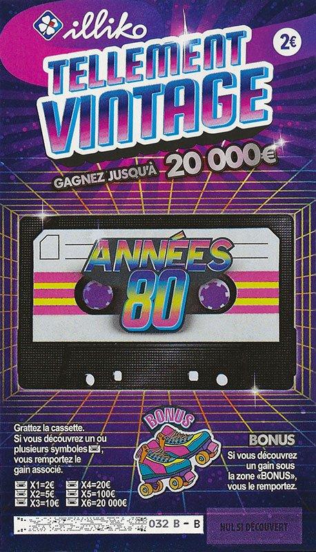 Ticket Tellement Vintage Années 80