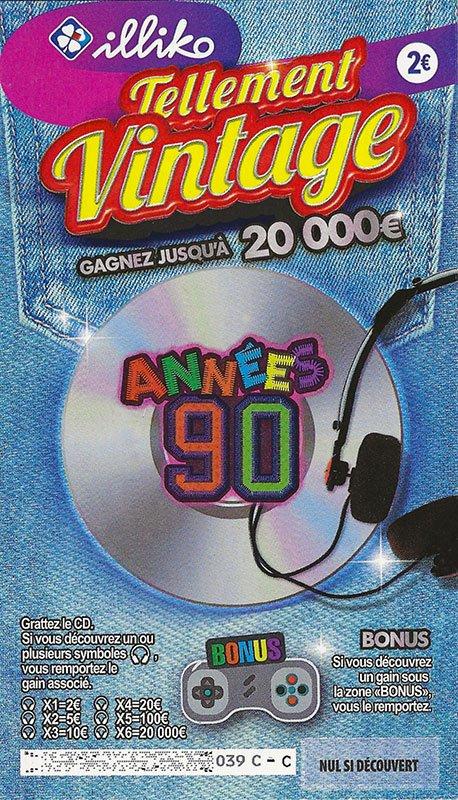 Ticket Tellement Vintage Années 90