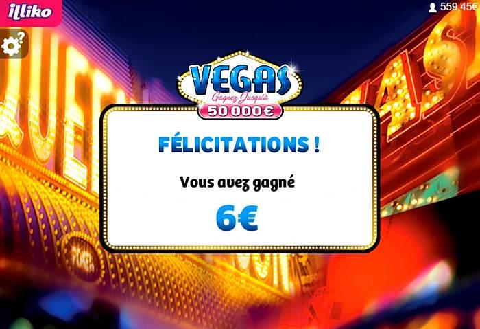 Total des gains 6 euros