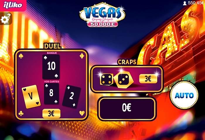 Vegas le premier gain de 6 euros