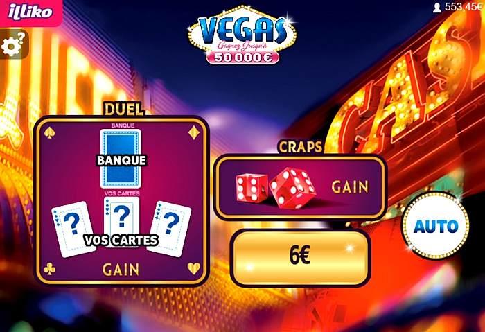 le bonus gagné sur Vegas