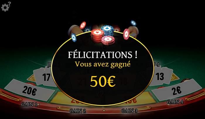 les 50 euros encaissés