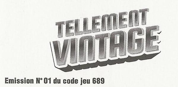vérification du code de jeu et numéro émission Tellement Vintage