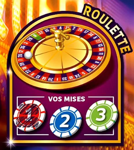 zone de jeu Roulette