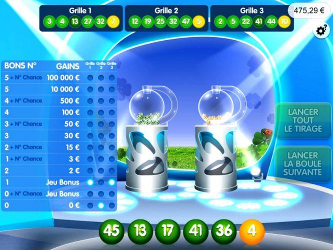 Tirage des bons numéros du loto sur Instant Loto FDJ