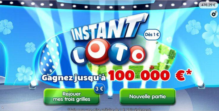 nouvelle version du loto en ligne Instant Loto