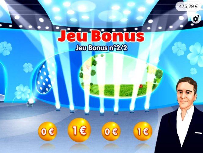 victoire sur le jeu bonus