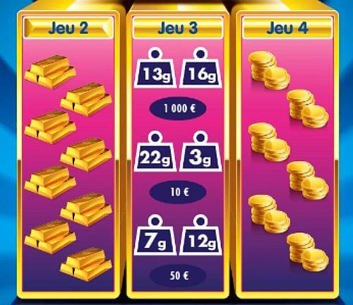 du 2e au 4e jeu sur Millionnaire