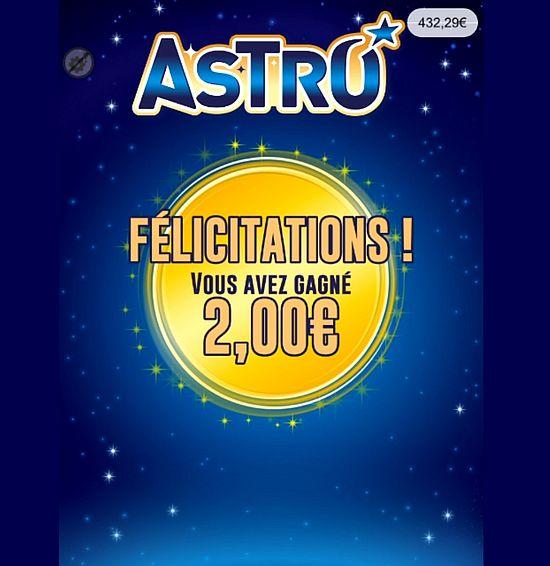 récupération des prix gagnés sur Astro