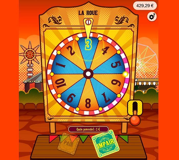 la roue gagnante du jeu Lucky Park