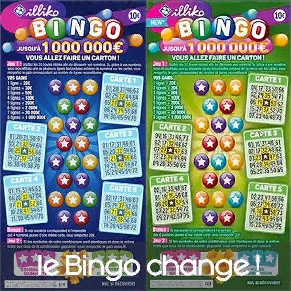 Les 2 tickets à gratter Bingo