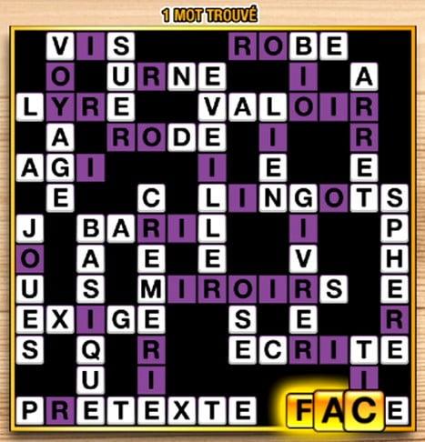 le premier jeu sur Méga Mots Croisés