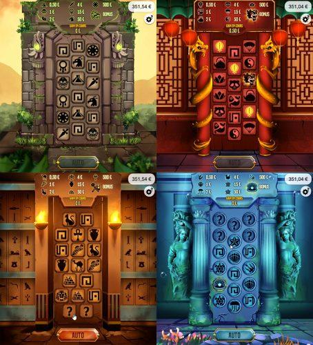 Les mondes du jeu Le Trésor des Cités Perdues