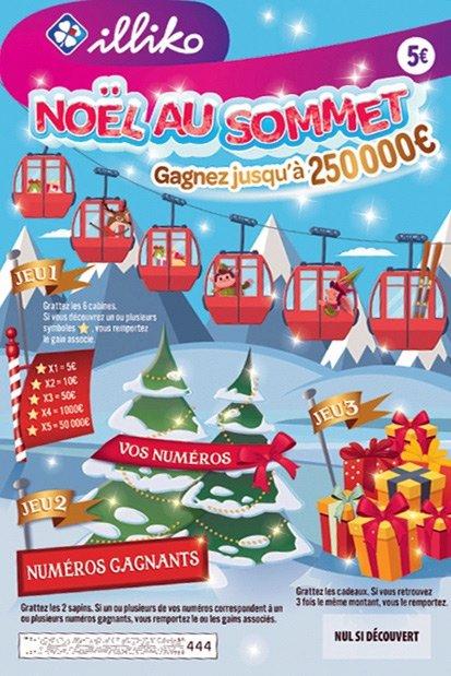 le ticket à gratter Noël au Sommet FDJ