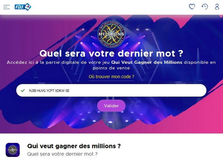 QVGDM le jeu FDJ en ligne