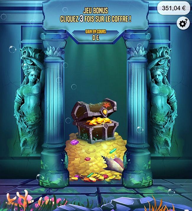 jeu bonus de Le Trésor des Cités Perdues