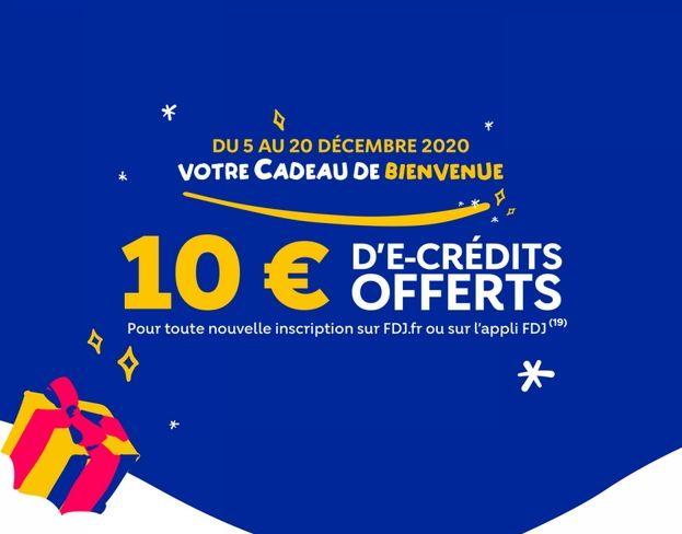 bonus ouverture de compte joueur Illiko FDJ 10 euros