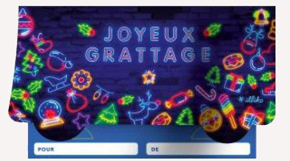 Joyeux grattage pochette cadeau FDJ