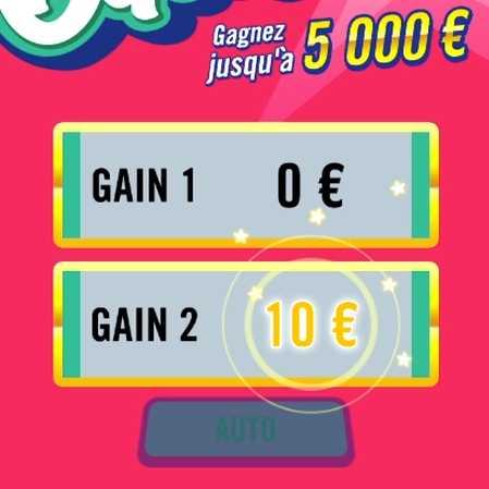 le jeu FDJ Banco Gagnant 10 euros