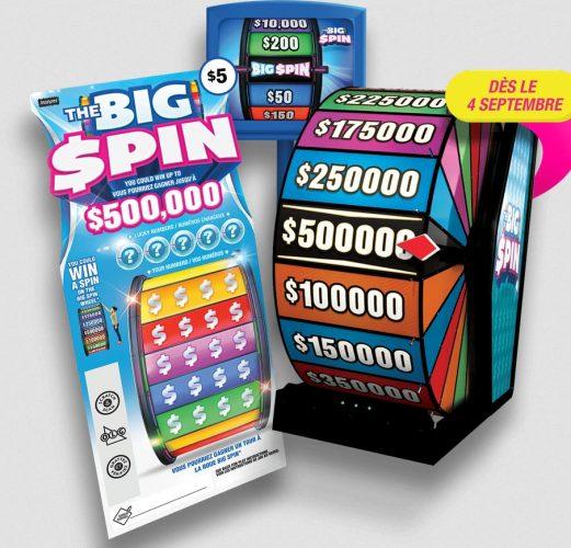 ticket de jeu Big Spin Canadien