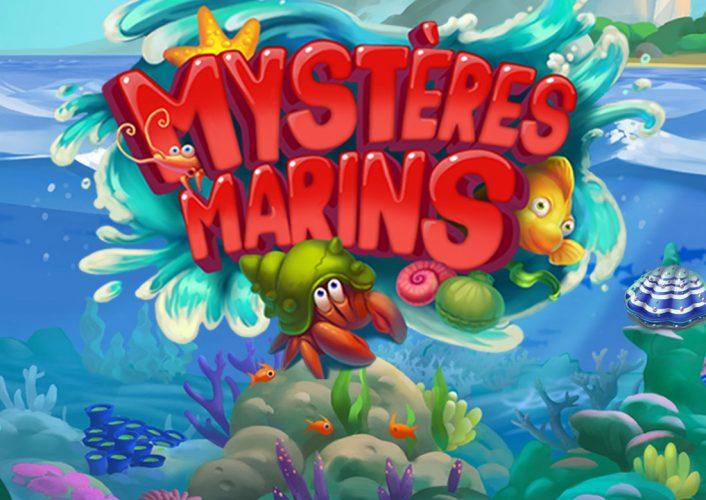 Magnifique logo du jeu Mystères Marins