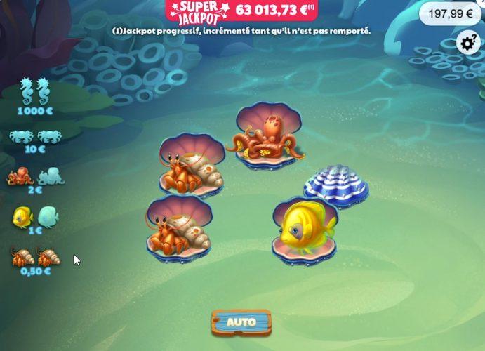 Une partie de jeux sur Mystères Marins