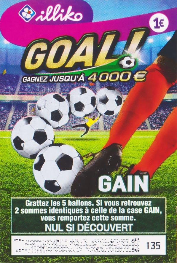 Ticket à gratter FDJ Goal